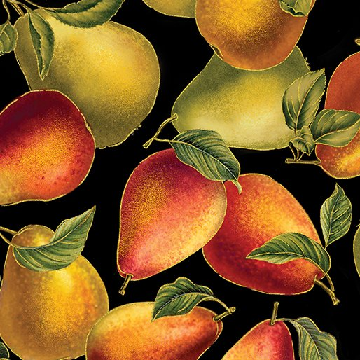 Harvest Gold - Elegant Pears Black