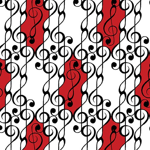 Musical Moments - G Clef Scroll White