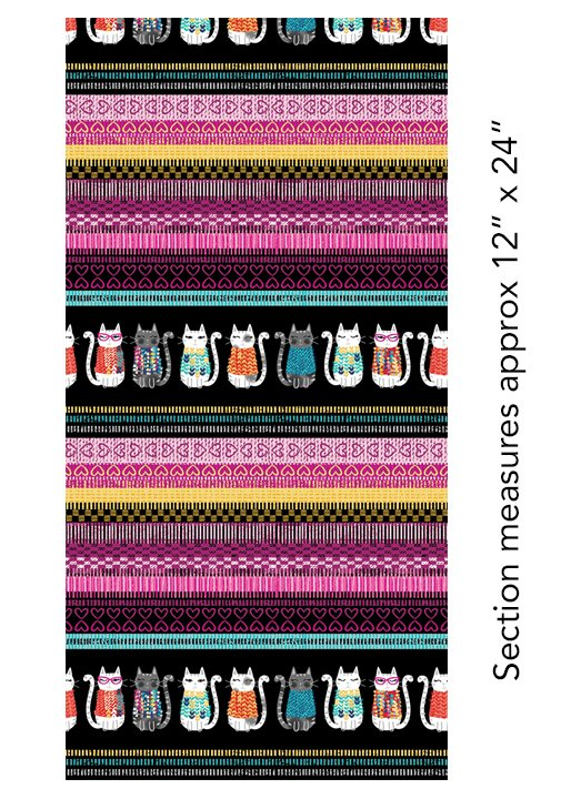 Knit Together - Cat Knit Stripe Multi