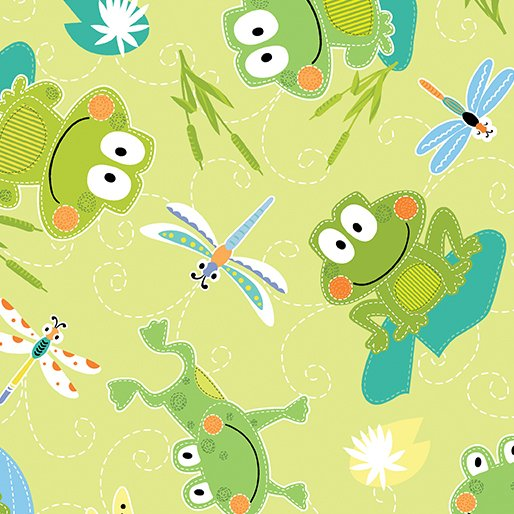 Toadily Cute Hop Along Frogs - Lime