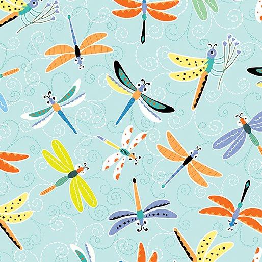 Toadily Cute Happy Dragonflies - Aqua