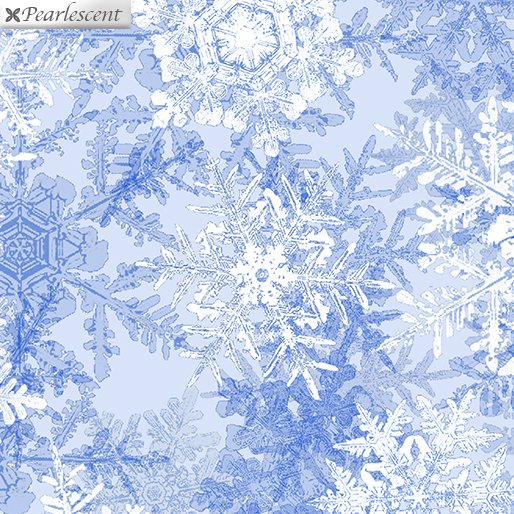Pearl Frost Snowflake Frost - Ice Blue