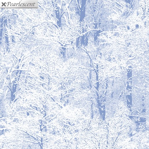 Pearl Frost Winter Trees - Powder Blue