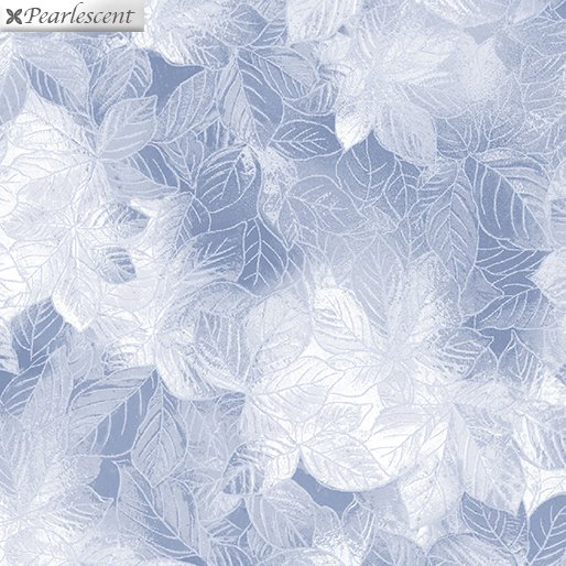 Pearl Frost Leaves - Silver Gray