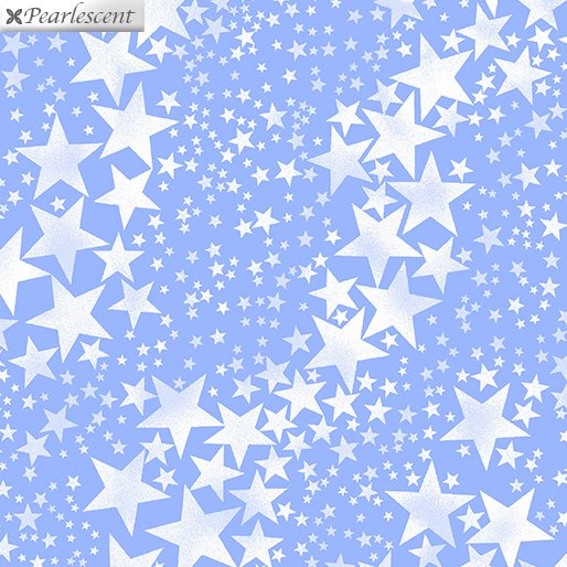 Pearl Frost Pearly Stars - Ice Blue