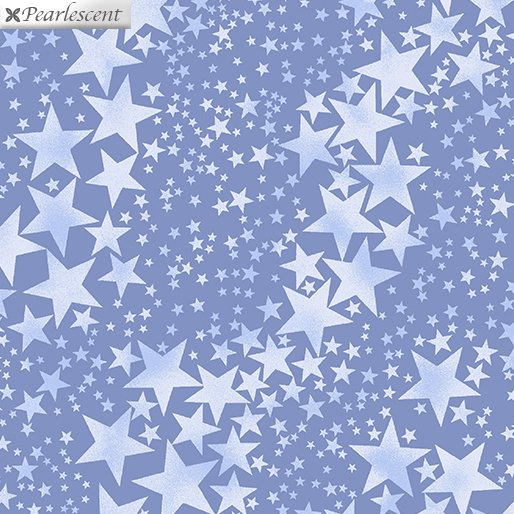 Pearl Frost Pearly Stars - Slate Blue