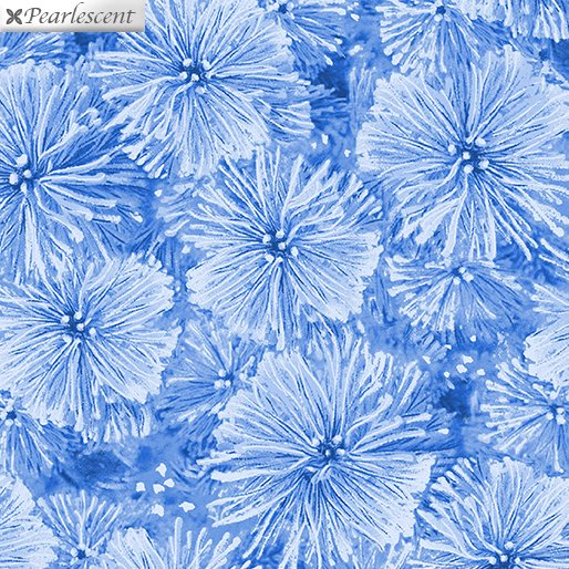 Pearl Frost Frosty Pine Needles - Cobalt