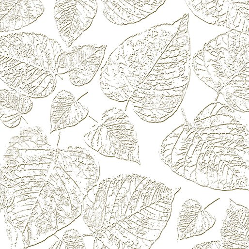 White Out Frosted Leaves - Taupe/White