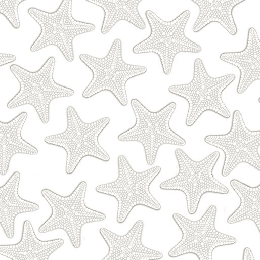 White Out Starfish - Silver/White