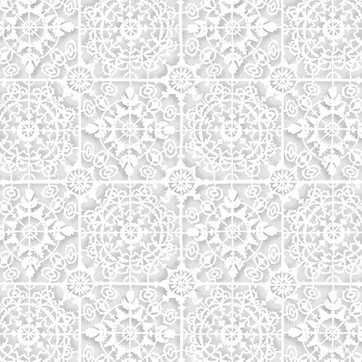 White Out White Tiles - Lt. Gray/White