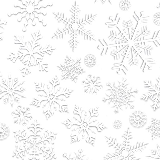 White Out Snow Crystals - Silver/White