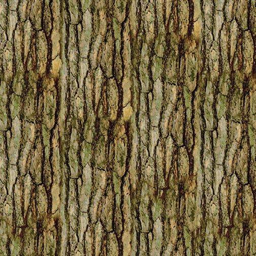 Nature Walk - Bark Texture 42 Light Moss