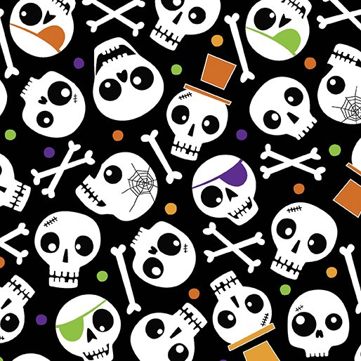 Faboolous Fun - Spooky Skulls Black