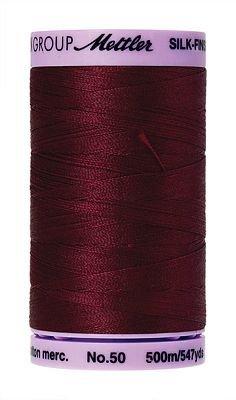 Mettler Silk Finish Cotton - 547 yds. -  0918 Cranberry