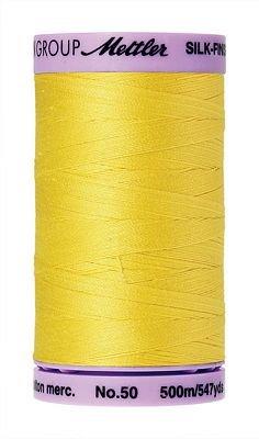 Mettler Silk Finish Cotton - 547 yds. - 3507 Lemon Zest
