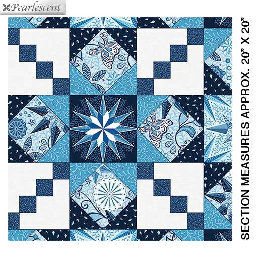 Celestial LIghts Endless Quilting Blue