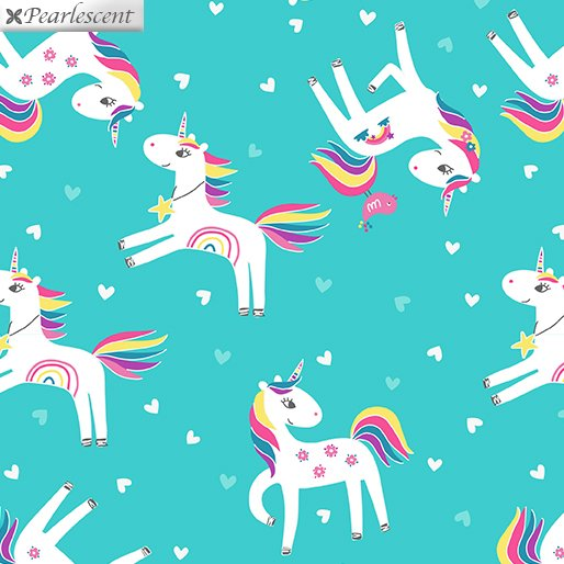 Unicorn Magic - Unicorn Love - Med. Aqua