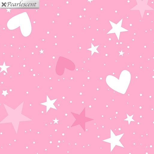 Unicorn Magic - Magical Stars & Hearts - Pink