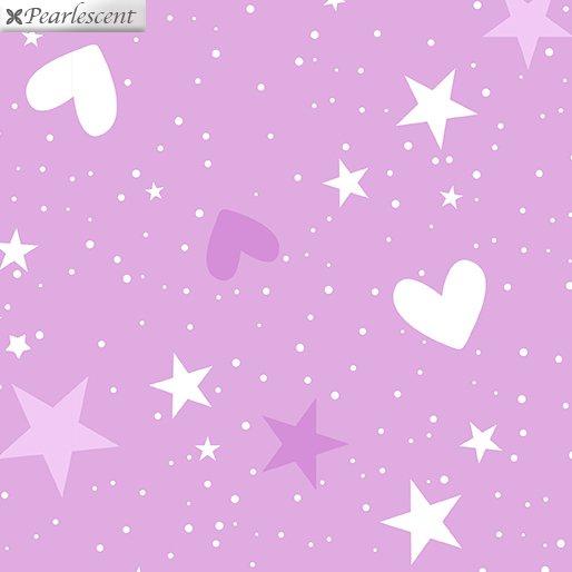 Unicorn Magic - Magical Stars & Hearts - Lilac