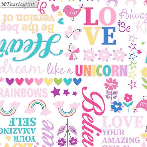 Unicorn Magic - Magical Words - White