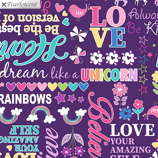 Unicorn Magic - Magical Words - Purple