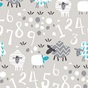 Bah Bah Baby - Sheep and Numbers Grey