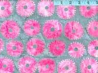Kaffe Mediterianean Tile - Saw Circles Pink