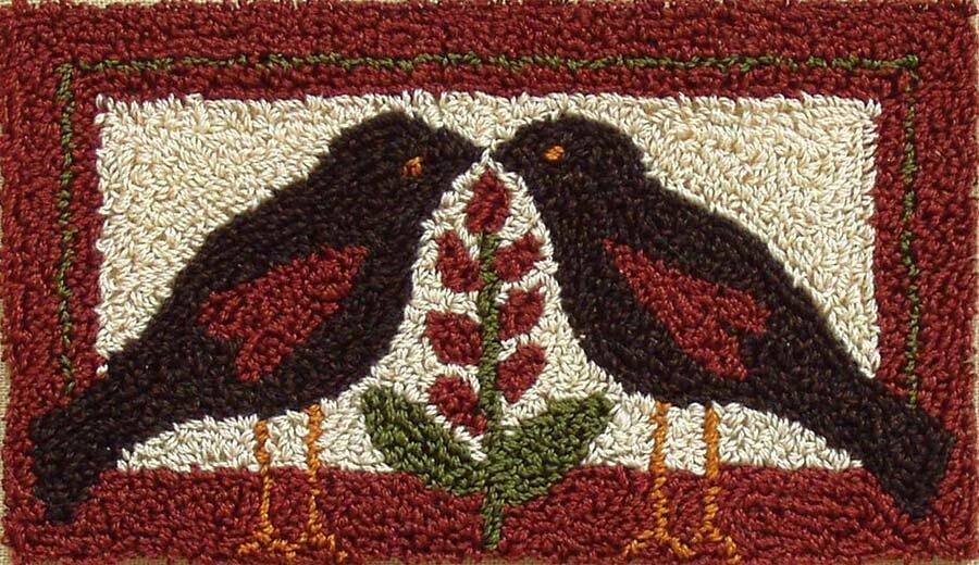Punchneedle Embroidery Kit - Blackbirds
