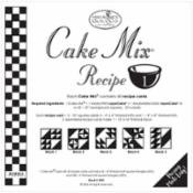 Cake Mix Recipe 1 45ct