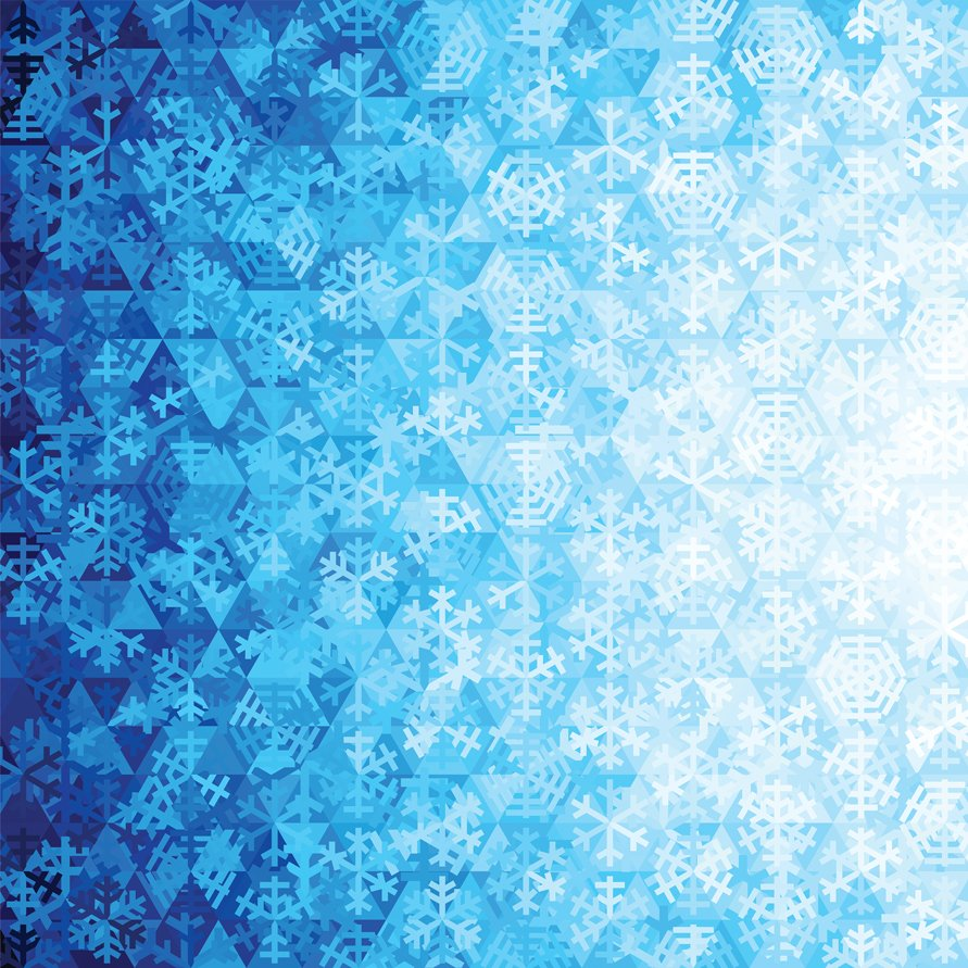 Gradients Holiday Ice Snowflakes