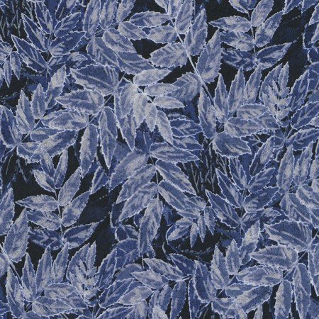 Frosted Leaves Navy