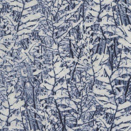 Snowy Trees Blue