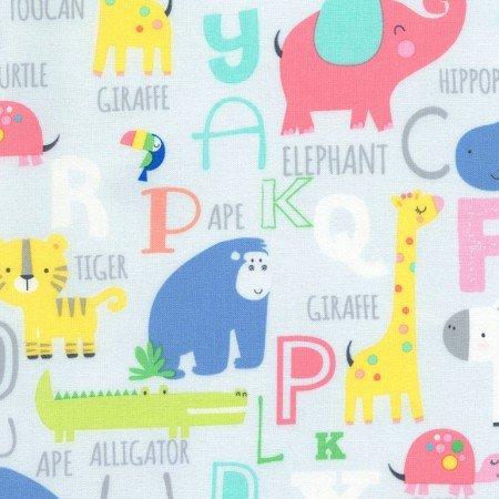 Jungle Parade -Animals and Alphabets Grey