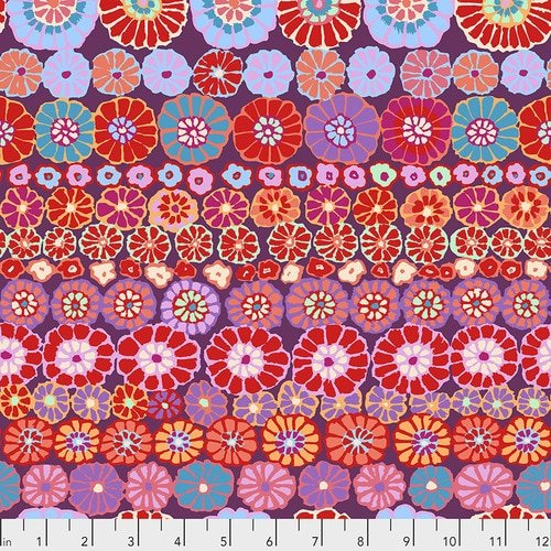 Kaffe Fassett Collective Fall 2018 - Row Flowers Red