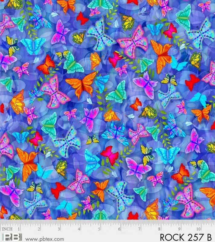 Rock Garden - Butterflies Dark Blue