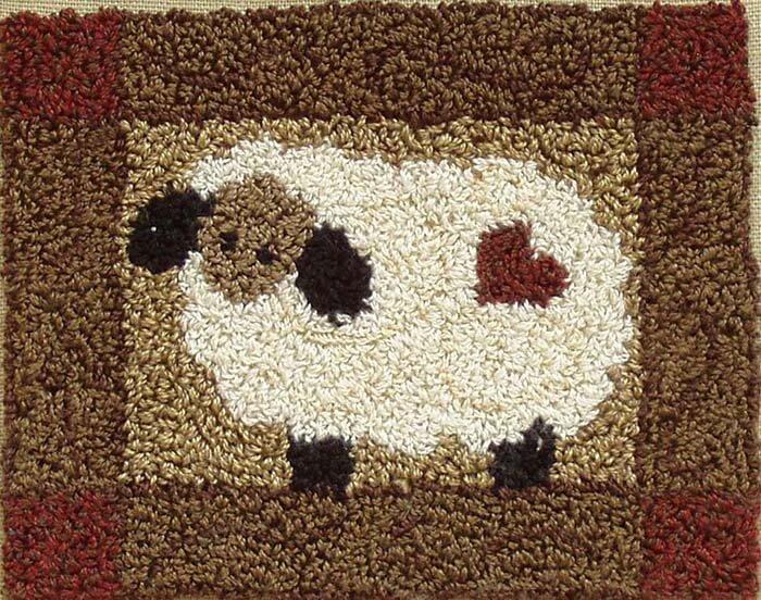 Punchneedle Embroidery Kit - Sheep