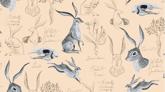 Gardenia - Rabbit Study Parchment