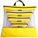 See Your Stuff 4pc Yellow  Bag Set