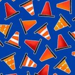 Be My Hero - Blue with cones