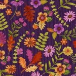 Enchanted Forest - Small Flowers Purple