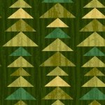 Enchanted Forest - Triangles Green