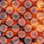 Autumn Hues Circles on Texture Red