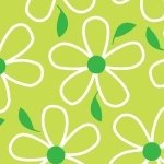 Quilt Camp Large Flowers Green