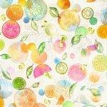 Hoffman Spectrum Print - With a Twist Citrus