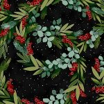 Holiday - Winter Blooms Black