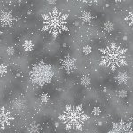 Holiday - Winter's Sky Snowflakes Storm Silver