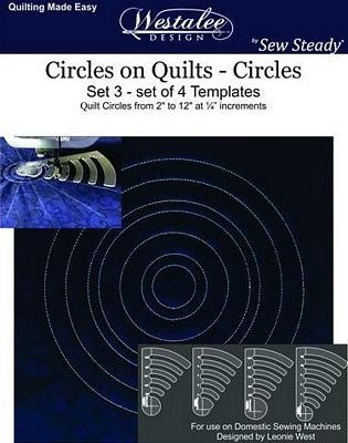 Circles on Quilts - Circles Set 3 (set of 4 templates)