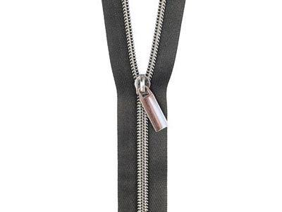 Zippers By The Yard Black Tape BlackTeeth #5