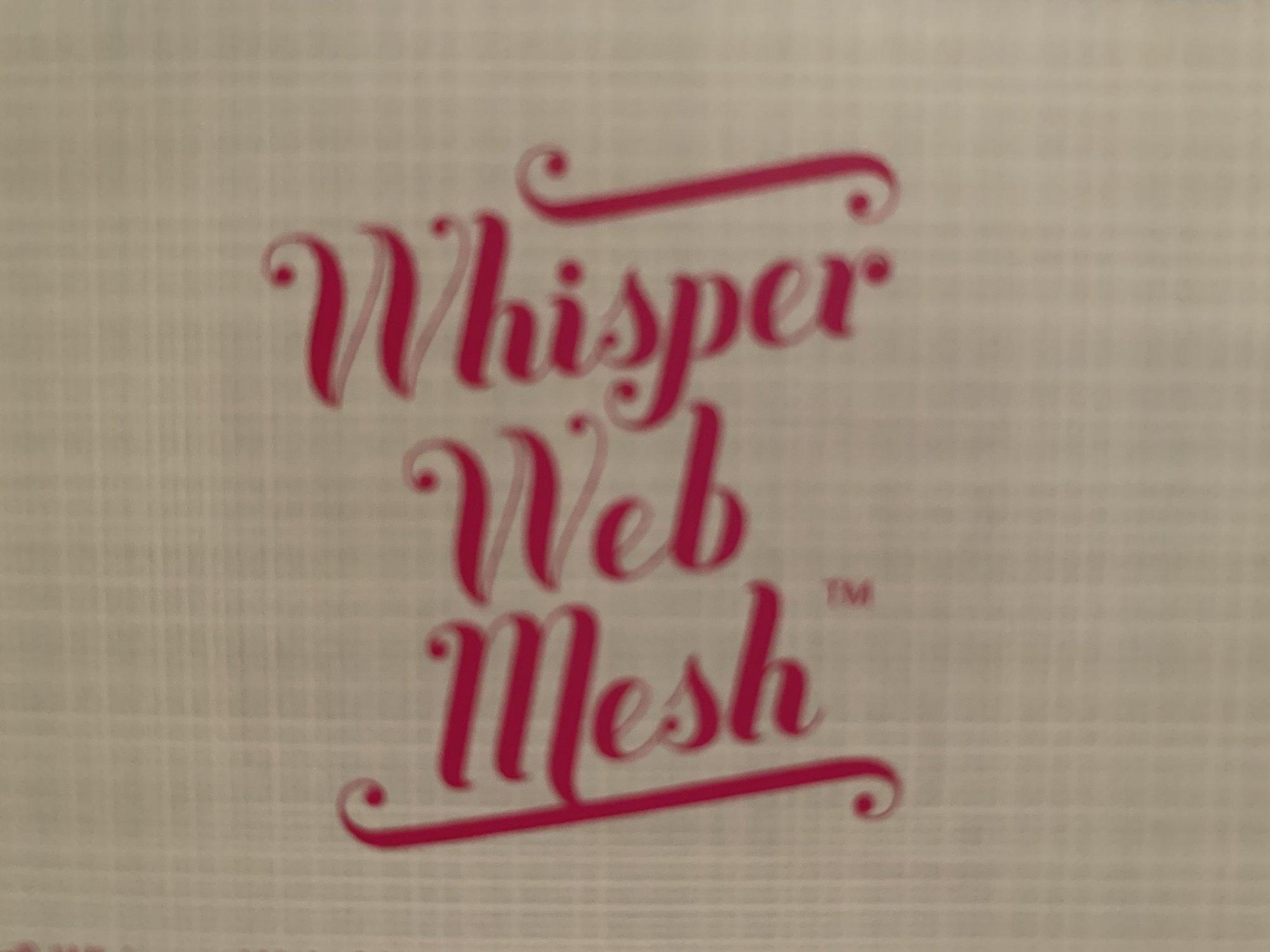 INSPIRA WHISPER WEB MESH 12 X 10 YDS