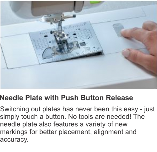 Needle Plate with Push Button Release